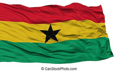 Isolated Ghana Flag