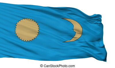 Isolated Gheorgheni city flag, Romania - Gheorgheni flag,...
