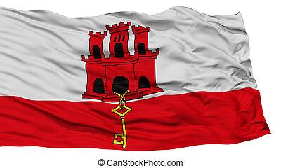 Isolated Gibraltar Flag