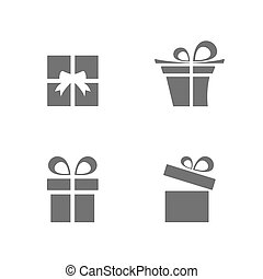 Isolated gifts icons set on white background