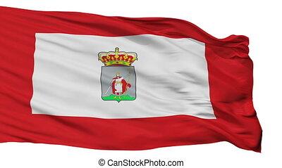 Isolated Gijon city flag, Spain - Gijon flag, city of Spain,...