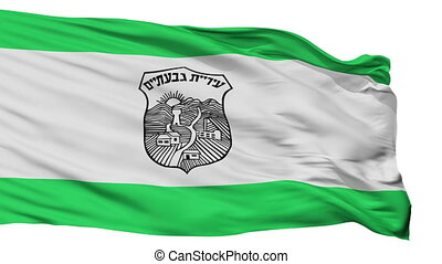Isolated Givatayim city flag, Israel - Givatayim flag, city...