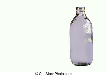 Isolated Glass bottles on a white background.