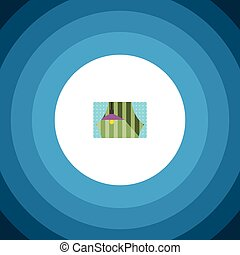 Isolated Glass Frame Flat Icon. Curtain Vector Element Can...