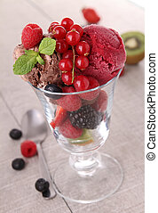 isolated glass of ice cream
