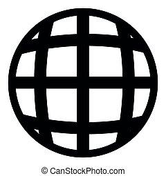 Isolated globe icon