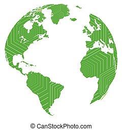 Isolated globe illustration