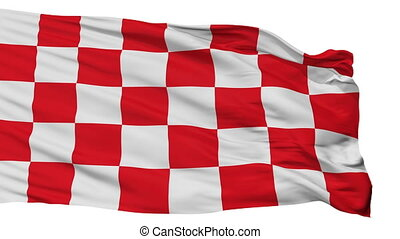 Isolated Glogow city flag, Poland - Glogow flag, city of...