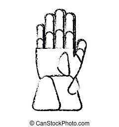 Isolated glove of winter cloth design