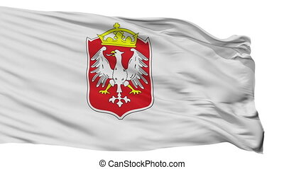 Isolated Gniezno city flag, Poland - Gniezno flag, city of...