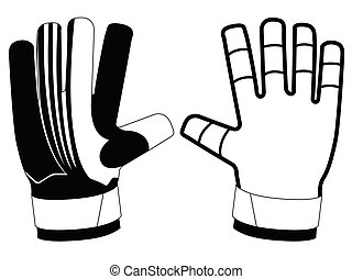 Isolated goalkeeper gloves icon