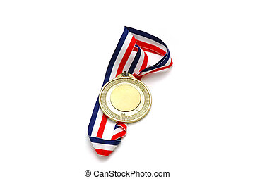 Gold Medal - Isolated Gold Medal.