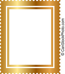 isolated gold stamp
