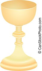 chalice - isolated golden chalice - liturgical vessel