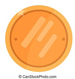 Isolated golden coin