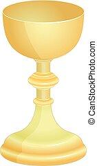 goblet - isolated golden goblet