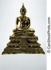 isolated golden image of Buddha 1