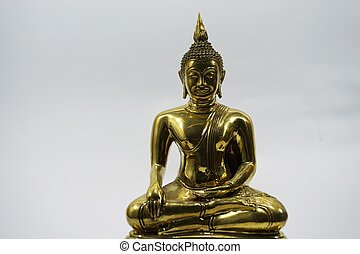 isolated golden image of Buddha 2
