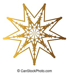 Isolated golden star shape on a white background, vector...