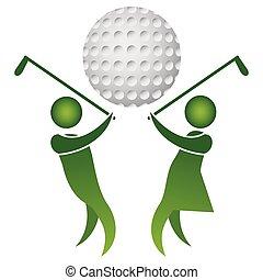 golf logo design - isolated golf logo design on white...