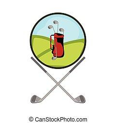 Isolated golf shield emblem
