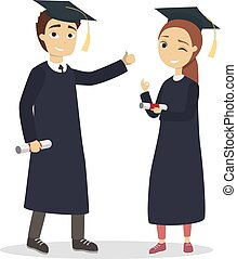 Isolated graduatd students. - Isolated graduatd students in...