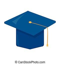 Isolated graduation cap