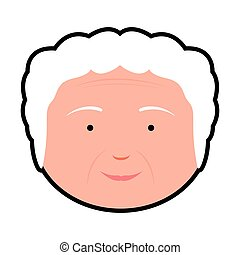 Isolated grandmother avatar