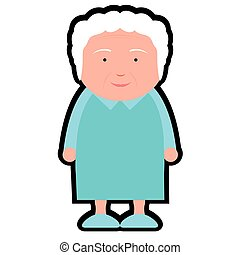 Isolated grandmother icon