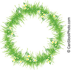 Isolated Grass Frame