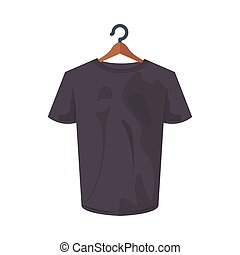 gray tshirt design, Cloth fashion style wear and store theme Vector illustration