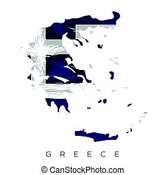 Isolated Greek map