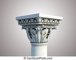 Isolated greek pedestal - Beautifully detailed 3d render of...