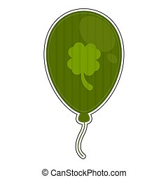 Isolated green balloon icon