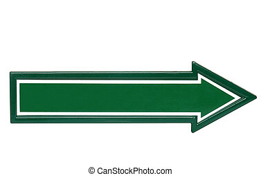 Isolated green blank sign
