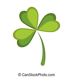 Isolated green clover icon