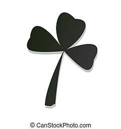 Isolated green clover