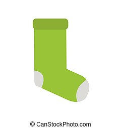 Isolated green socks icon