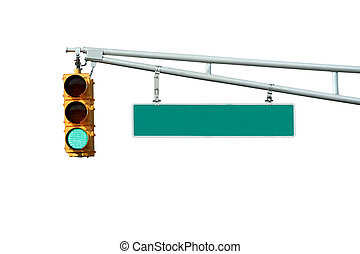 Green traffic signal - Isolated Green traffic signal light ...