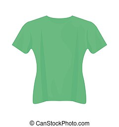 green tshirt design, Cloth fashion style wear and store theme Vector illustration