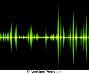 isolated green wave of sound