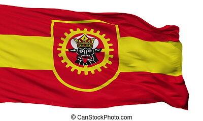 Isolated Grevesmuhlen city flag, Germany - Grevesmuhlen...
