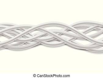 Isolated grey tech wires on white background