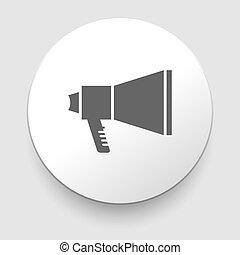 Isolated grey web icon on white background