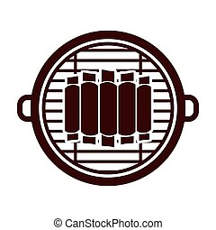 Isolated grill and bbq ribs design - Grill and ribs icon....