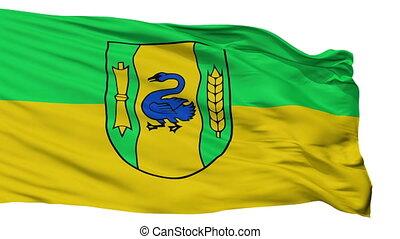 Isolated Gronau city flag, Germany - Gronau flag, city of...
