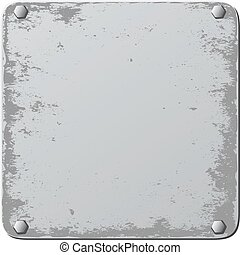 plaque - isolated grunge plaque