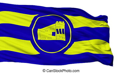 Isolated Guanica city flag, Puerto Rico - Guanica flag, city...