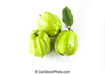 isolated guava on white background