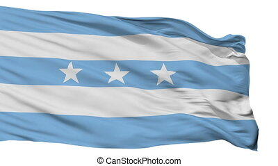 Isolated Guayaquil city flag, Ecuador - Guayaquil flag, city...